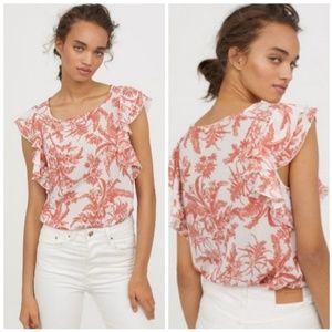 H&M Flounce-Sleeved Top